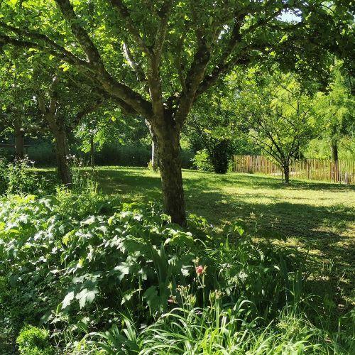 jardin clos du gite au jardin de grand-père
